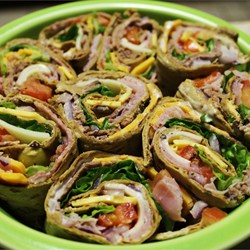 Spinach and Turkey Wraps