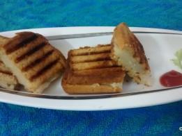 Grilled Potato Mini Squares