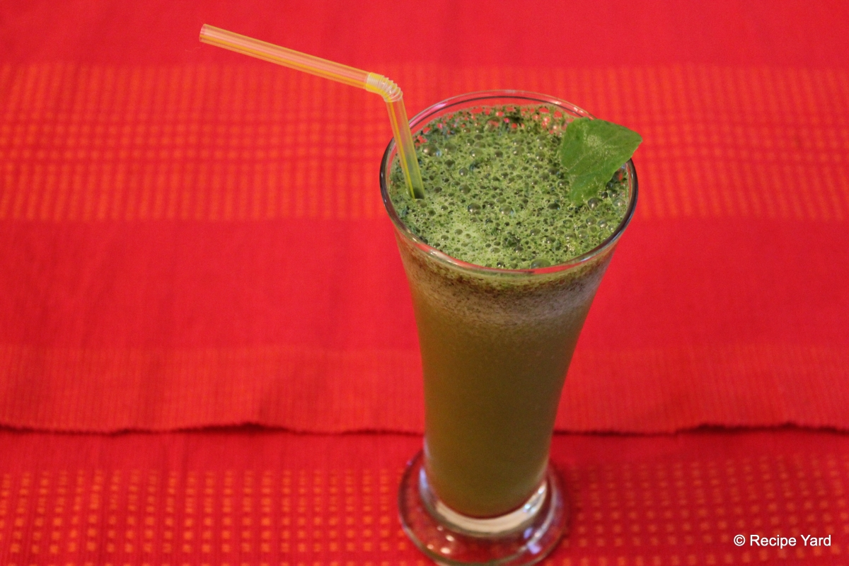 Minty Basil Orange Drink