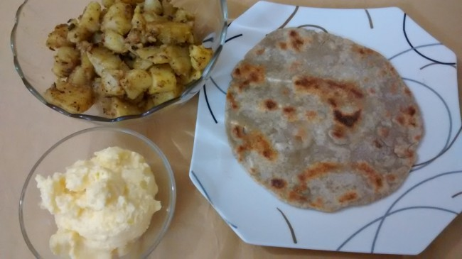 Kuttu Chapatti with Potato Masala