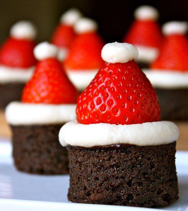 Brownie-Santas