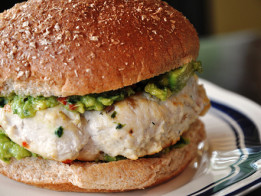 Chicken-Burgers-with-Pesto-Mayonnaise