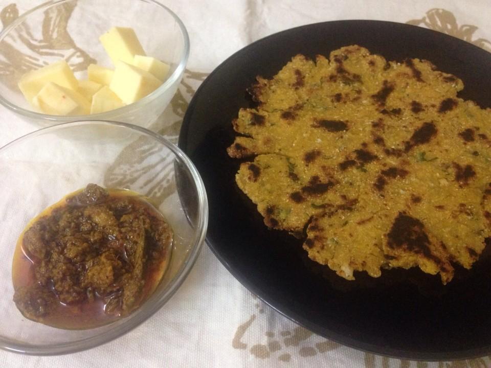 Makki-Gobhi-ki-Roti