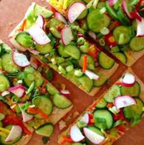 Veggie-Naan-pizza