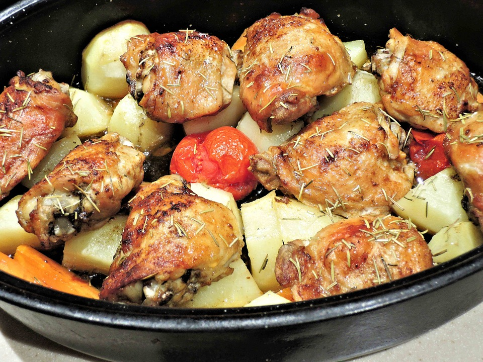 Roasted Chicken Thighs With Tomatoes & Potatoes – Recipe Yard